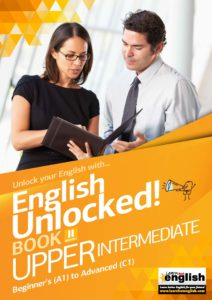 English Unlocked cover Upper intermediate two work colleages looking at document