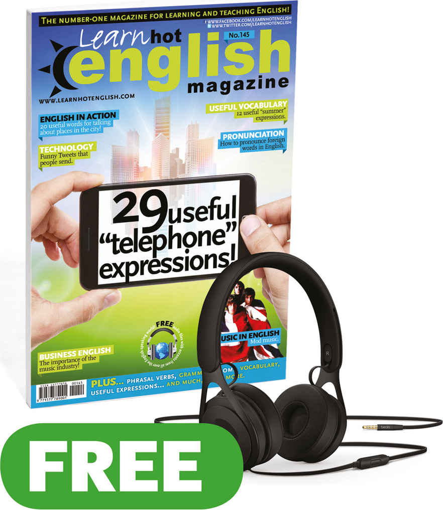 Image of Free English learning magazine, Learn Hot English