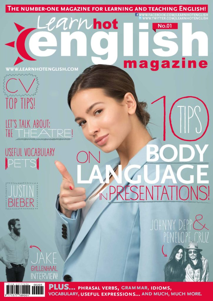 Learn Hot English mag 1 cover body language