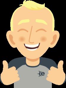Cartoon guy with thumbs up