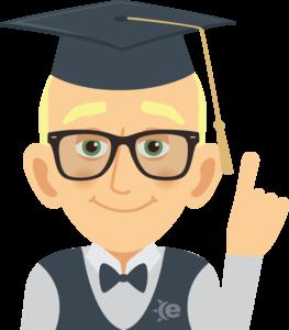 Cartoon guy with graduation hat