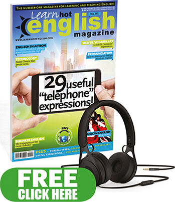 Learn Hot English free e-book advertisement - Home Page